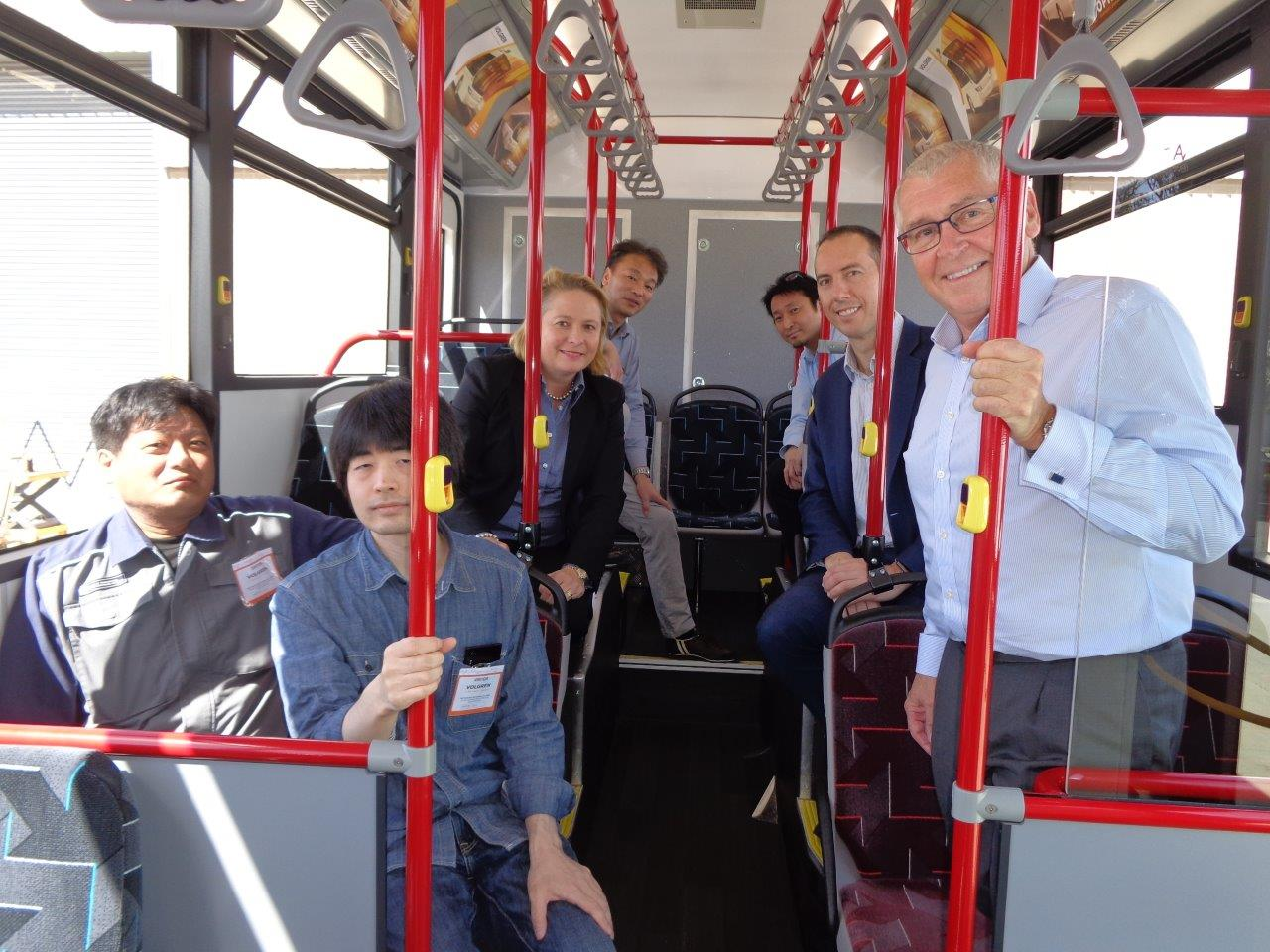 A delegation from Tokyo Metropolitan Government and Scania Japan have conducted their first customer inspection. The representatives were joined by Peter Dale, Volgren CEO and  Wendy McMillan, CEO of The Rolling Stock Development Division.